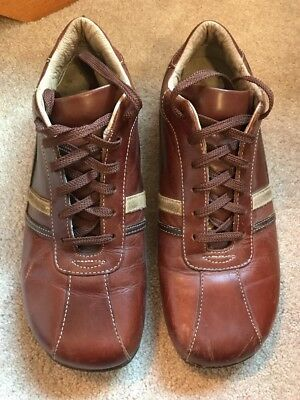 37e2e639599 Men s Steve Madden Roloo Size 10 1 2 Sneakers Shoes Brown Leather Casual