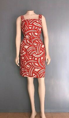 14bb7e2802b BANANA REPUBLIC DRESS Size M Sleeveless Coral Pleated tie back ...