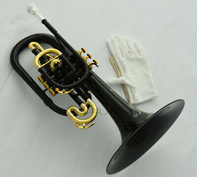 Professional Black Marching Mellophone horn F Key Monel Valves WIth Case