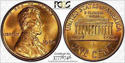 1960 Small Date Lincoln Memorial Cent Penny 1c Coin PCGS MS-65 RED