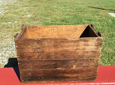 ANTIQUE AUTO KNITTER WOODEN BOX Knitting Machine Crate!