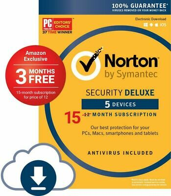 Norton Security Deluxe 2019 download 5 Devices 15 months Fast Email Delivery