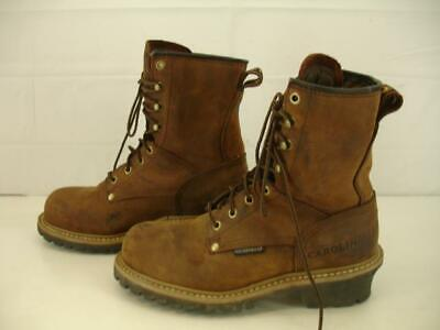 52a6e08ff3a MENS SZ 7 D M Carolina Elm Steel Toe Brown Leather Work Boots ...