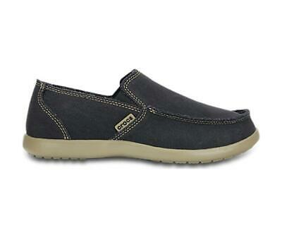9fb2dd0263829 NEW Mens CROCS Santa Cruz blue canvas slip on loafers driving shoes loafers  11