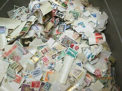 Worldwide Off Paper Mix, Mint & Used, About 7.500 Or So Stamps, Well Mixed
