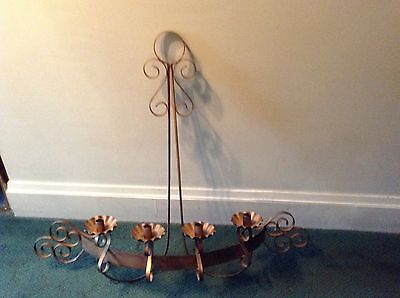 Scrolled Metal Wall Candleholder Large Wrought Iron Candle Sconce Holder Tuscan