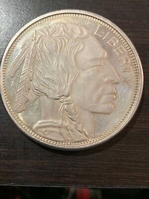 Original Liberty Indian Head Buffalo ~ 2 Troy Ounce .999 Fine Silver Round