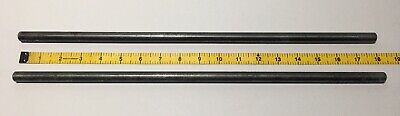 "Two Vintage 18"" Aluminum Science Lab 2 Stand Support Rods 1/2"""
