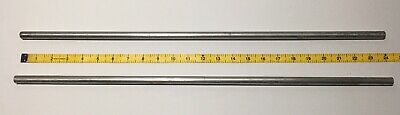 "Two 24"" Vintage Aluminum Science Lab 2 Stand Support Rods 1/2"""