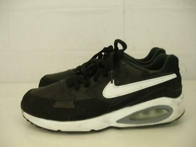 premium selection ebd5c 444ba Nike Air Max St GS Kids Youth Boys Girls 7Y 7 Black White Leather Running  Shoes
