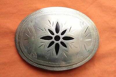 Vintage Johnson Held Inlay Hand Made  Western Belt Buckle