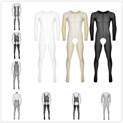 176d6eedac4 Mens Lingerie Sheer See Through Socks Pantyhose Footed Tights Full Body  Stocking