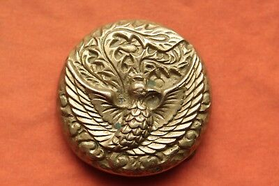 Vintage Solid Brass Bird Design Belt Buckle