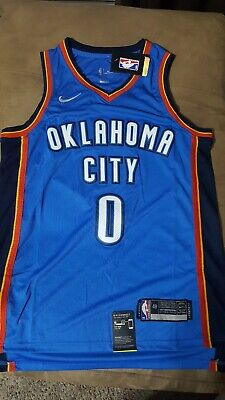77f6830c745e Nike Russell Westbrook  0 Oklahoma City Thunder Icon Edition Jersey (48)
