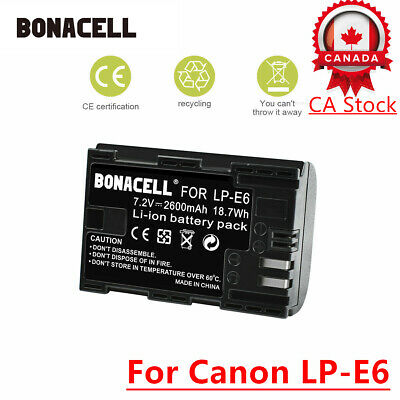 CA! Bonacell 1 x LP-E6 LPE6 Battery For Canon EOS 60D 7D Digital Camera SLR UB