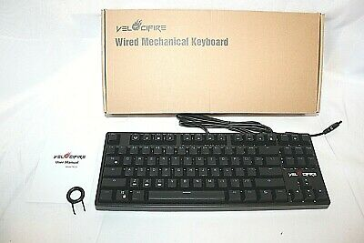 2988e136cda VELOCIFIRE TKL02 Wired Mechanical Keyboard Blue LED Backlit 87 Key 40% Off