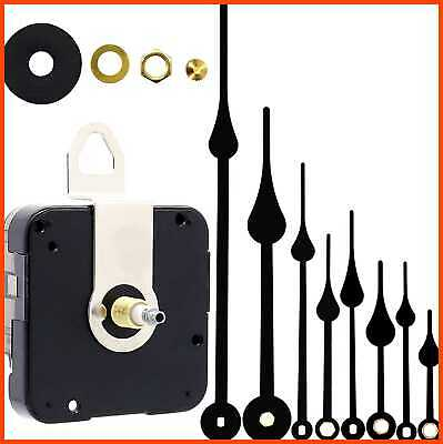 2Pack Clock Motor Movement W Battery Parts Replacement Mechanism Black