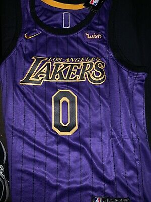 743ac943926 NEW NIKE LOS ANGELES LA LAKERS KYLE KUZMA CITY EDITION SWINGMAN JERSEY  48 Large