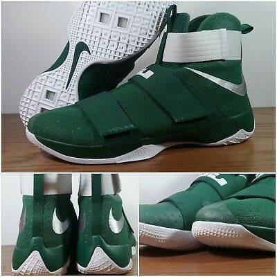d22bc0a2cf411 New Nike Lebron James Soldier 10 TB Spartan Green White 856489-331 Men s  Size 18