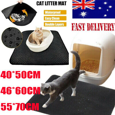 New Cat Litter Mat Anti-Tracking Honeycomb Trapping Mat Double Layer Urine Proof