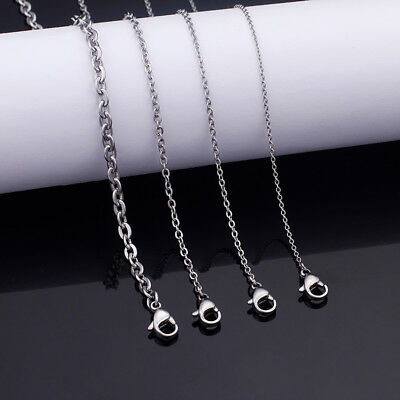 5pcs Lot 3mm 24'' Fashion Silver Oval Link chain Necklace Stainless steel Chain