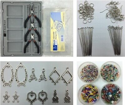 Earring Jewellery Making Kit - Starter Kit + Organiser & Tools - 2500+ Pieces