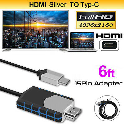 4K USB Type-C HDTV AV HDMI Cable Adapter For Samsung Galaxy Note 8/9 S9 S10 Plus