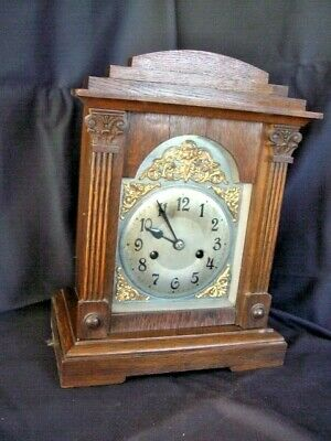 Antique German Badische Uhrenfabrik Black Forest Mantle Clock - Runs - Quality