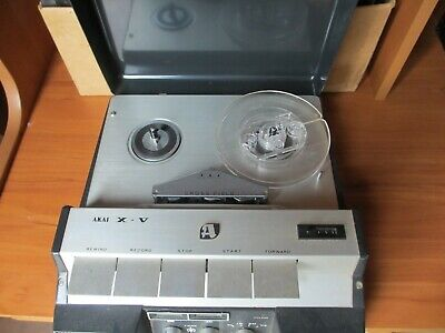 VINTAGE AKAI 4 TRACK STEREO TAPE RECORDER - including many tapes