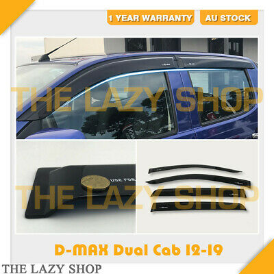 Weathershields, Weather shields Sun Visors #L USE FOR D-MAX Dual Cab 12-19