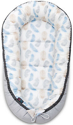Baby Nest Baby Shower Gift Cocoon Pod Baby Soft Bed High-Quality Blue Feathers