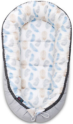 Sleepyhead Blue Feathers Baby Shower Gift Cocoon Pod Baby Baby Nest Newborn
