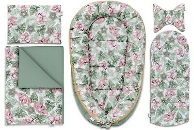 Sleepyhead Baby Nest Cocoon Baby Bed Pillow Blanket Set High-Quality Floral Cot