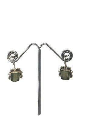 Ancient Roman Glass Earrings Sterling Silver 925 Fragments Antique Green Unique