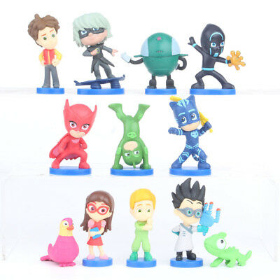PJ Masks Action 12 Piece Figure Set - Brand New & Pack Action Cake topper figure