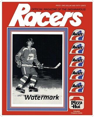 hot sale online 26bf0 1d76e WHA 1978 - 79 Wayne Gretzky Indianapolis Racers Game Program Cover 8 X 10  Photo