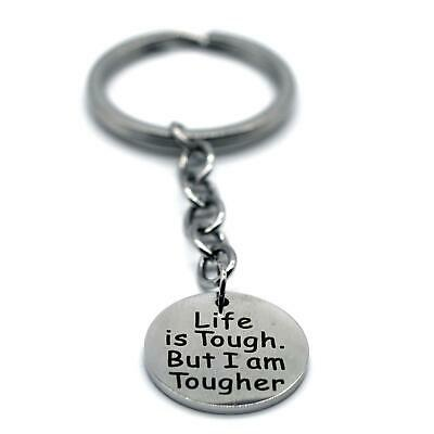 Stainless Steel Inspiration Key Chain,Be Stronger than the Storm KCS01