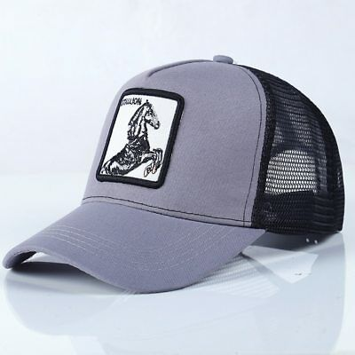 1366ab222b761 Goorin Bros Animal Farm Trucker Snapback Baseball Hat Cap Black Horse  Stallion