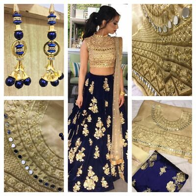 Indian Bollywood Designer Lehenga Choli Pakistani Heavy Lengha Wedding RC 15