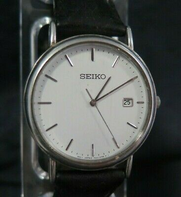 Quality Vintage Seiko Gents Quartz Dress Watch Ref 7N32-0Dp0 - Working