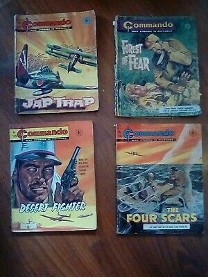 COMMANDO WAR STORIES IN PICTURES Lot no 101 , 146 , 185 , 189