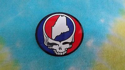 Grateful Dead Steal Your Face State of Maine MINI 2 Inch Sticker