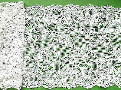 """`""""Laces Galore"""" Ivory Silky Soft Stretch Lace 17cm/6.75"""" Table Runner Lingerie"""