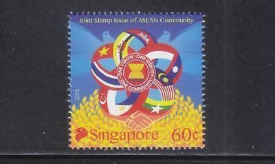 Singapore 2015 48Th Anniv. Of Asean Joint Stamp Issue Comp. Set Of 1 Stamp Mint