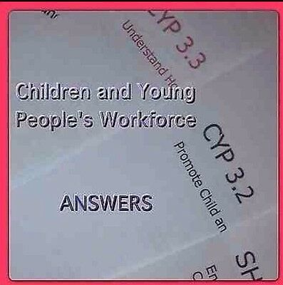 Level 3 ANSWERS Children And Young People's Workforce Diploma 22 OPTIONAL UNITS