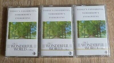 WONDERFUL WORLD OF MUSIC 3 x Audio Cassettes 2 NEW and SEALED Readers Digest