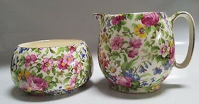 Royal Winton Grimwades Chintz Sugar & Creamer - Summertime