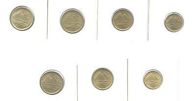EGYPT COINS FULL Set 1& 5 Pounds Silver Sheikh Sharawy الشيخ