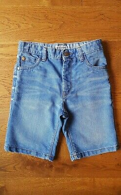 NEXT Boys Blue Faded Distressed Denim Jean Shorts Size 9 Years