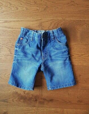 NEXT Boys Blue Faded Distressed Denim Jean Shorts Size 5 Years